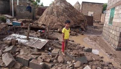 الحديدة: وفاة أم وطفلها وفقدان 5 آخرين وتهدم منازل جراء السيول بمديرية الزهرة