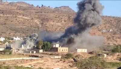 البيضاء: ميليشيا الحوثي تفجر ثلاثة منازل في مديرية ذي ناعم