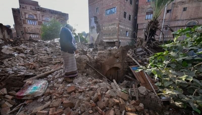 """انهيار منزل شاعر اليمن الكبير """"عبدالله البردوني"""" بصنعاء القديمة"""