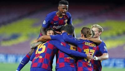 برشلونة يزيح نابولي ويضرب موعداً مع بايرن ميونيخ في ربع نهائي الأبطال