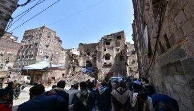 تهدم 111 منزلا في صنعاء القديمة جراء الأمطار والسيول