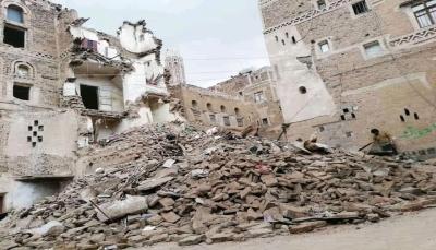 مسؤول حكومي يتهم الحوثيين بهدم منازل تراثية بصنعاء القديمة وتحويلها إلى متاجر
