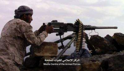 """صنعاء: قوات الجيش تحرر مواقع جديدة في """"نهم"""" وتسقط طائرة مسيرة للحوثيين"""