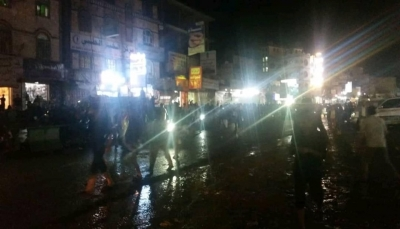 """الضالع: مظاهرة ليلية ضد ميليشيات الحوثي في """"مدينة دمت"""""""