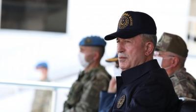 """رئيسة اليونان تصل """"جزيرة ميس"""" ووزير دفاع تركيا يحضر أنشطة قرب المكان ويهاجم ماكرون"""