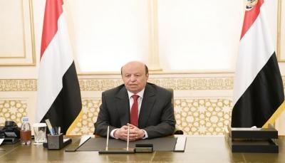 الرئيس هادي يطلب إستنفار دولي لمساندة الحكومة بمواجهة التحديات الاقتصادية