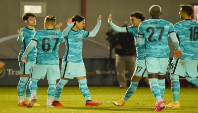 ليفربول يستعرض بسباعية ومانشستر سيتي يفوز بصعوبة في كأس الرابطة