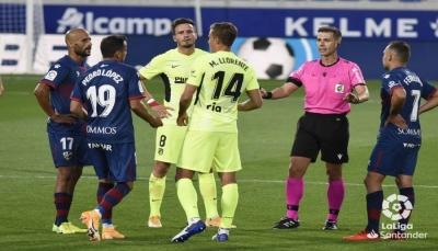 أتلتيكو مدريد يتعثر أمامهويسكاوفيارياليهزمألافيس