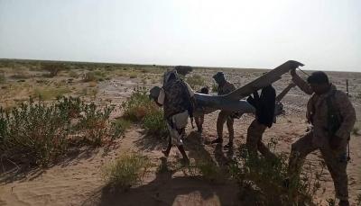 دفاعات الجيش الوطني تسقط طائرة مسيرة للحوثيين شرق الجوف