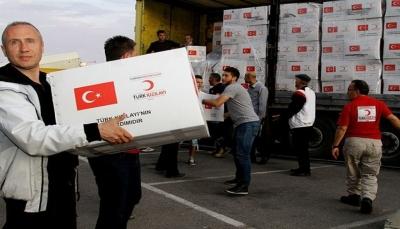 تركيا توزع أكثر من ألف سلة غذائية في ثلاث محافظات يمنية