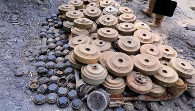 أبين: إتلاف كمية من الألغام والعبوات من مخلفات الحوثيين في لودر