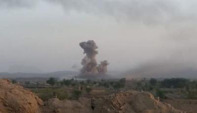 صعدة: غارات جوية تُدمر عربات لمليشيات الحوثي في مديرية الصفراء