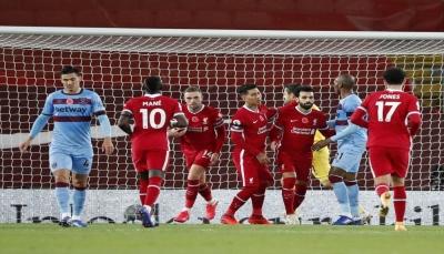 ليفربول يقتنص فوزاً صعباً من وست هام