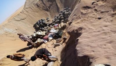 الجيش الوطني يتلف كمية من الألغام الأرضية في الجوف