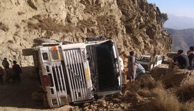 """حادث مروري يغلق طريق """"هيجة العبد"""" الرابط بين محافظتي تعز وعدن"""