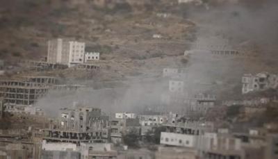 إصابة 3 أطفال وتضرر عدة منازل بقصف حوثي على مدينة تعز