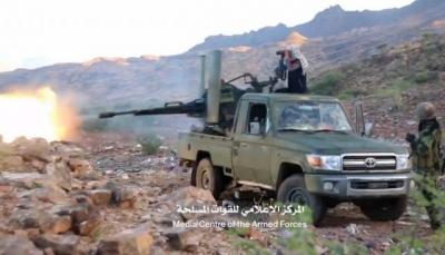القوات الحكومية تهاجم مليشيات الحوثي شمالي الضالع وتحقق مكاسب ميدانية