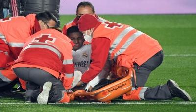 ريال مدريد يكشف عن طبيعة إصابة لاعبه البرازيليرودريغو