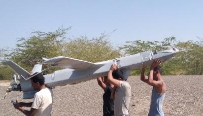 اسقاط طائرة مسيرة تابعة للحوثيين غربي تعز