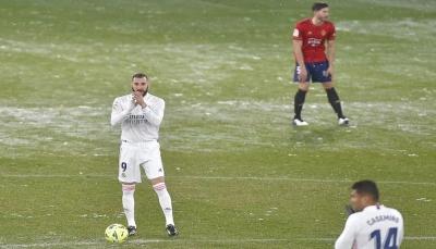 ريال مدريد يتعثر بالتعادل ويفقد فرصة الصدارة المؤقتة