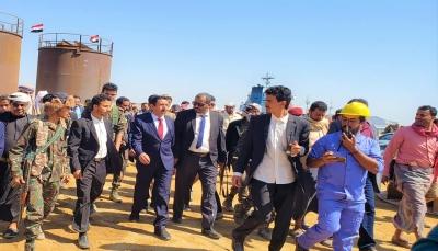 """محافظ شبوة يفتتح المرحلة الأولى لميناء """"قنا"""" النفطي على ساحل البحر العربي"""