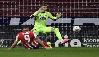 سلتا فيغو يفرض التعادل على أتلتيكو مدريد رغم تألق سواريز