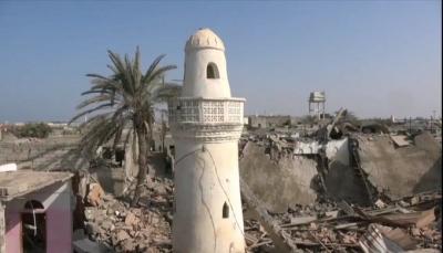 قصف صاروخي حوثي يدمر مسجدا جنوبي الحديدة
