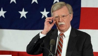 """بولتون: إيران سبب إطالة أمد الأزمة اليمنية والتفاوض مع """"الإرهابيين"""" مهمة صعبة"""