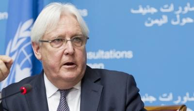 """""""غريفيث"""" يعلن فشل جولة المشاورات بين الحكومة والحوثيين بشأن الأسرى"""