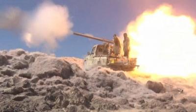 قوات الجيش تسقط طائرة مسيرة وتدمر تعزيزات للحوثين غربي مأرب