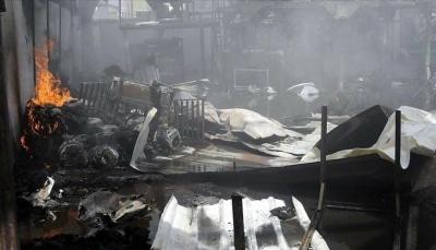 مليشيا الحوثي تدفن العشرات من جثامين المهاجرين الذين أحرقتهم بصنعاء