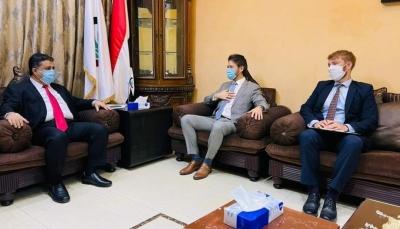 العيسي يلتقي دبلوماسيًا بريطانيًا ويشدد على دعم الحكومة الشرعية