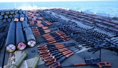 مسؤول بالبنتاغون: شحنة الأسلحة المضبوطة إيرانية وكانت في طريقها للحوثيين