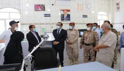 وزير الصحة يطلع على سير العمل في المستشفى العسكري بمأرب