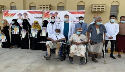 50 جريحاً يصلون سلطنة عُمان لتلقي العلاج في المركز العربي للأطراف