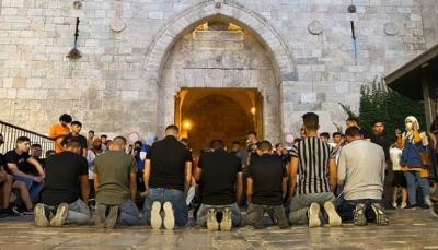 اعتداءات واعتقالات في باب العامود عقب تصدي المقدسيين لاقتحام المتطرف بن غفير