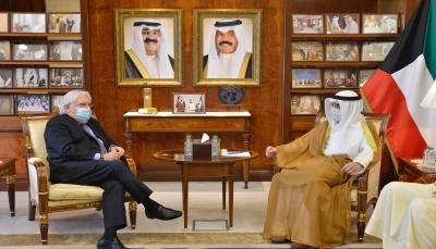 """غريفيث في الكويت.. """"الصباح"""" يشدد على أهمية تنفيذ المبادرة السعودية للسلام في اليمن"""