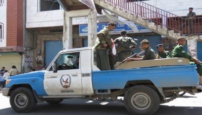 شرطة تعز تضبط ثلاثة عناصر ينتمون لعصابة مسلحة في المدينة