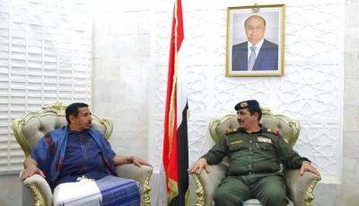 """وزير الداخلية يصل محافظة """"شبوة"""" لتفقد الأوضاع الأمنية"""