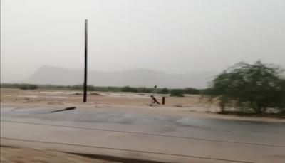تضرر شبكة الكهرباء بوادي حضرموت نتيجة للأمطار والرياح الشديدة