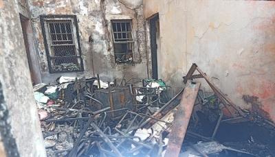 اندلاع حريق في أرشيف عقارات وأراضي عدن