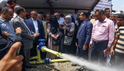 تستفيد منه 700 أسرة.. افتتاح مشروع مياه يعمل بالألواح الشمسية في جبل حبشي غربي تعز