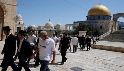 عشرات المستوطنين اليهود يقتحمون باحات الأقصى بحماية الاحتلال