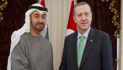 لأول مرة منذ سنوات.. اتصال هاتفي بين أردوغان ومحمد بن زايد لتعزيز العلاقات الثنائية