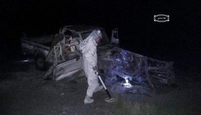 الضالع.. إصابة 3 مدنيين بينهم طفل بانفجار لغم حوثي في سيارة مدنية