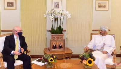المبعوث الأمريكي يبحث مع وزير خارجية عُمان جهود وقف إطلاق النار في اليمن