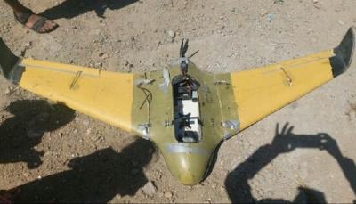 قوات الجيش تسقط طائرة مسيرة لميليشيات الحوثي غربي تعز