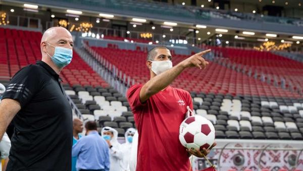إنفانتينو يشيد باستعدادات قطر لمونديال 2022