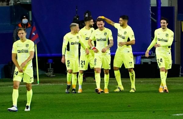 أتلتيكو مدريد يحقق فوزه السادس توالياً ويبتعد بالصدارة