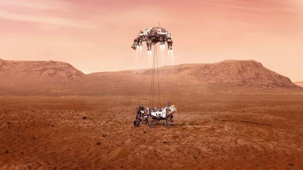 """مركبة ناسا تتخطى """"دقائق الرعب السبع"""" وتهبط على سطح كوكب المريخ (صورة)"""